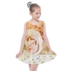 Roses Plate Romantic Blossom Bloom Kids  Summer Dress by Sudhe