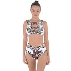 Transparent Background Bird Bandaged Up Bikini Set  by Sudhe