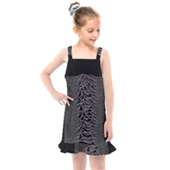 Grayscale Joy Division Graph Unknown Pleasures Kids  Overall Dress by Sudhe