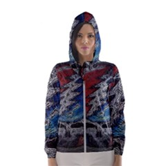 Grateful Dead Logo Hooded Windbreaker (women) by Sudhe