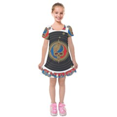 The Grateful Dead Kids  Short Sleeve Velvet Dress by Sudhe