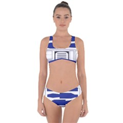 R2 Series Astromech Droid Criss Cross Bikini Set by Sudhe