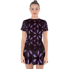 Digital Art Art Artwork Abstract Drop Hem Mini Chiffon Dress