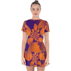 Digital Art Art Artwork Abstract Drop Hem Mini Chiffon Dress by Pakrebo
