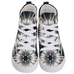 Abstract Fractal Pattern Lines Kids  Hi Top Skate Sneakers