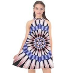 Digital Art Art Artwork Abstract Halter Neckline Chiffon Dress  by Pakrebo