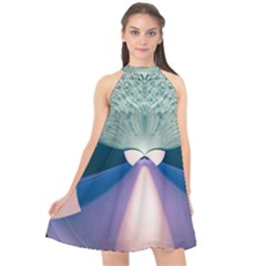 Digital Art Art Artwork Abstract Halter Neckline Chiffon Dress