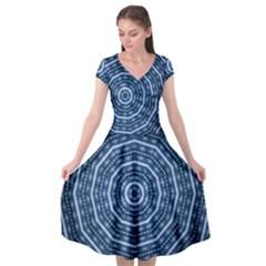 Digital Art Art Artwork Abstract Cap Sleeve Wrap Front Dress