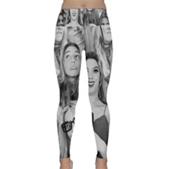 Lele Pons   Funny Faces Lightweight Velour Classic Yoga Leggings by Valentinaart