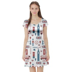 London Love Short Sleeve Skater Dress by lucia
