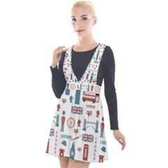 London Love Plunge Pinafore Velour Dress by lucia
