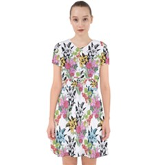 Drawing Colorful Flowers Adorable In Chiffon Dress by goljakoff