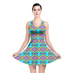 Abstract Colorful Unique Reversible Skater Dress