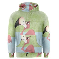 Flamenco Angry Illustration Bird Men s Pullover Hoodie