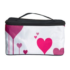Heart Rosa Love Valentine Pink Cosmetic Storage by Desi8477
