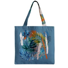 Capella Blue Grocery Tote Bag by tangdynasty