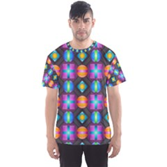 Squares Spheres Backgrounds Texture Men s Sports Mesh Tee