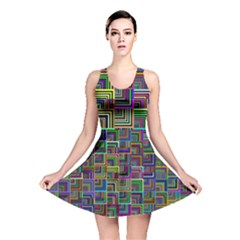 Wallpaper Background Colorful Reversible Skater Dress
