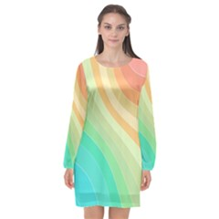 Arrangement Aesthetics Aesthetic Long Sleeve Chiffon Shift Dress
