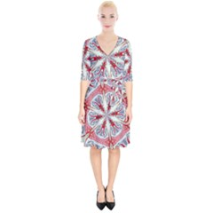 Kaleidoscope Background Bottles Wrap Up Cocktail Dress by Pakrebo
