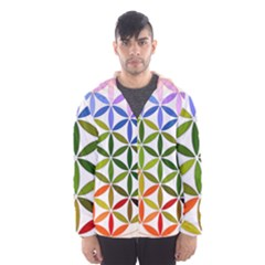 Mandala Rainbow Colorful Reiki Hooded Windbreaker (men) by Pakrebo