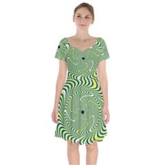 Illusion Idea Head Irritation Short Sleeve Bardot Dress by Pakrebo