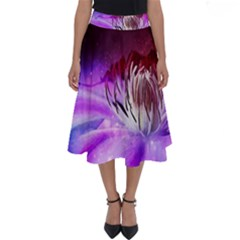 Clematis Structure Close Up Blossom Perfect Length Midi Skirt