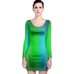 Lines Rainbow Colors Spectrum Color Long Sleeve Bodycon Dress