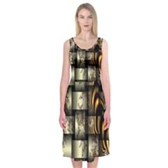 Graphics Abstraction The Illusion Midi Sleeveless Dress