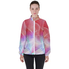 Background Nebulous Fog Rings High Neck Windbreaker (women) by Pakrebo