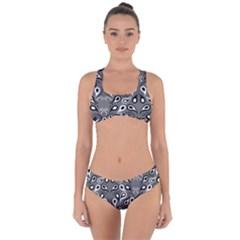 Paisley Pattern Paisley Pattern Criss Cross Bikini Set by Pakrebo