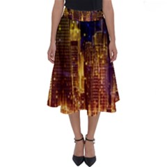 City View San Francisco Usa Perfect Length Midi Skirt