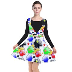 Pattern Background Wallpaper Design Plunge Pinafore Dress