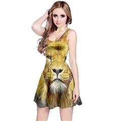 Lion Lioness Wildlife Hunter Reversible Sleeveless Dress