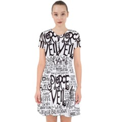 Pierce The Veil Music Band Group Fabric Art Cloth Poster Adorable In Chiffon Dress by Sudhe