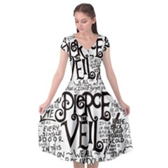 Pierce The Veil Music Band Group Fabric Art Cloth Poster Cap Sleeve Wrap Front Dress