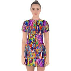 135 1 Drop Hem Mini Chiffon Dress by ArtworkByPatrick