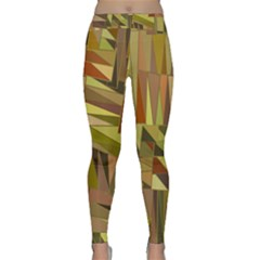 Earth Tones Geometric Shapes Unique Classic Yoga Leggings by Mariart