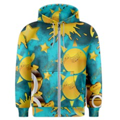 Gold Music Clef Star Dove Harmony Men s Zipper Hoodie
