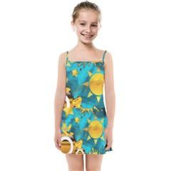 Gold Music Clef Star Dove Harmony Kids  Summer Sun Dress