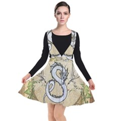 Wonderful Asian Dragon Plunge Pinafore Dress by FantasyWorld7