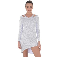 Abstract Lines Asymmetric Cut Out Shift Dress by tarastyle