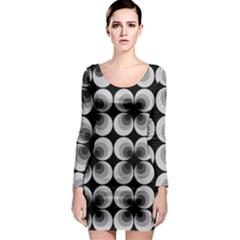 Zappwaits Retro Black Long Sleeve Bodycon Dress by zappwaits