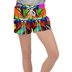 Zoom Butterfly Insect Colorful Women s Velour Lounge Shorts by AnjaniArt