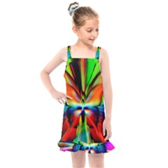 Zoom Butterfly Insect Colorful Kids  Overall Dress by AnjaniArt