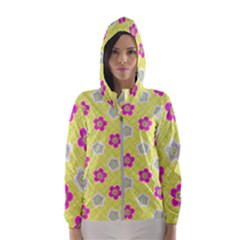Traditional Patterns Plum Women s Hooded Windbreaker
