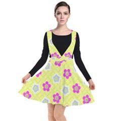 Traditional Patterns Plum Plunge Pinafore Dress