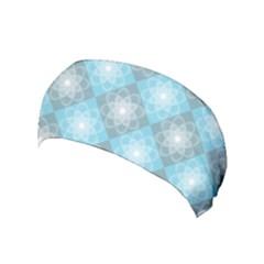 White Light Blue Gray Tile Yoga Headband