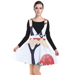 Tree Art Trunk Artwork Cartoon Plunge Pinafore Dress