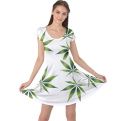 Cannabis Curative Cut Out Drug Cap Sleeve Dress by Jojostore